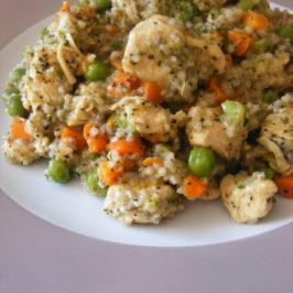 Kurczak w warzywach z kaszą, czyli kaszotto