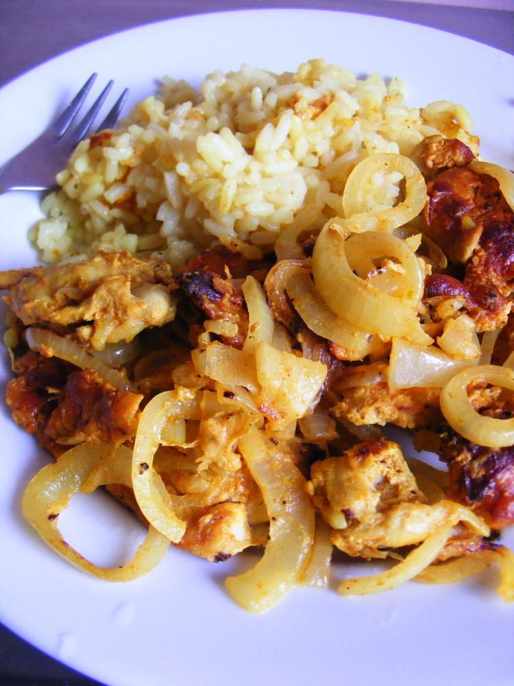 Kurczak Tandoori z ryżem