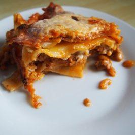 Lasagne z pieczonymi pomidorami