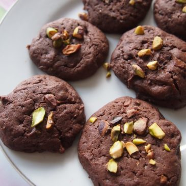 Ciasteczka czekoladowe z pistacjami