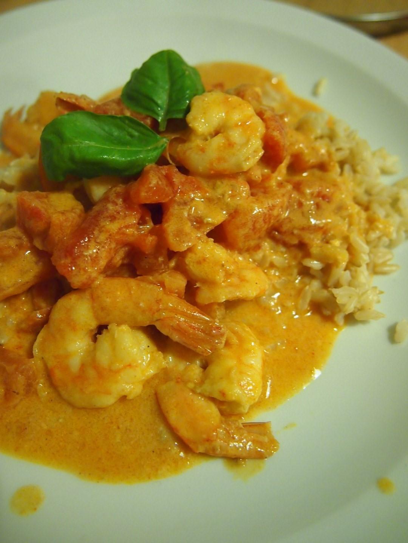 Krewetki w curry