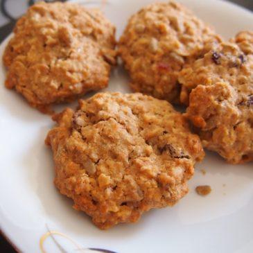Ciasteczka miodowo-owsiane