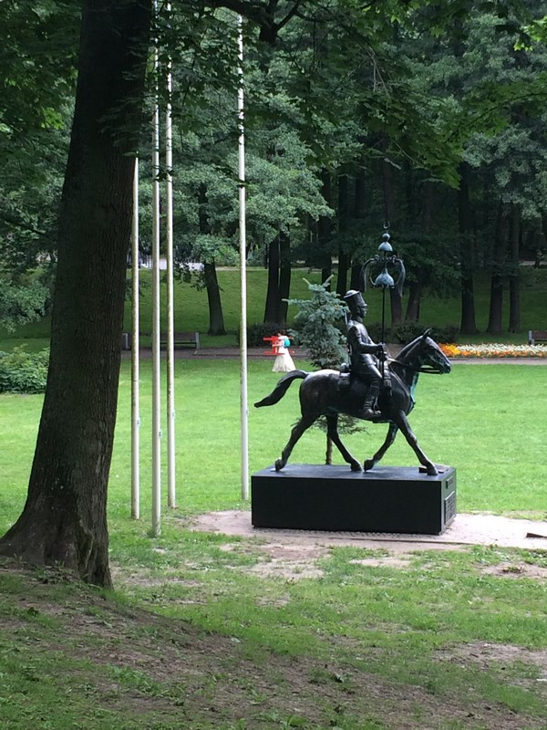 Pomnik Tatara na koniu w Parku Oruńskim