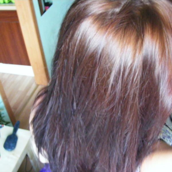 włosy po laminowaniu - tył