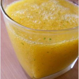 Sok jabłkowo-pomarańczowy z miętową nutką
