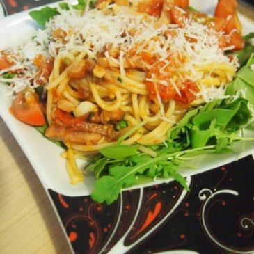 Spaghetti z boczkiem
