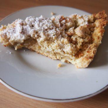 Szybkie kruche ciasto z rabarbarem