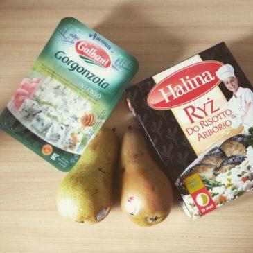 Risotto z gruszkami i gorgonzolą
