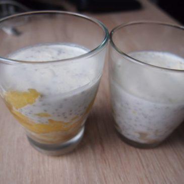 Chia z mleczkiem kokosowym i mango