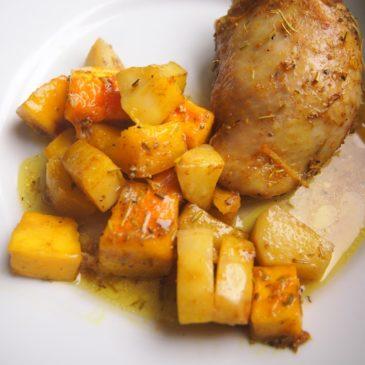 Udka z dynią i ziemniakami